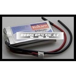 2/910H Kokam 910mAh Li-Polymer 7,4V 15C
