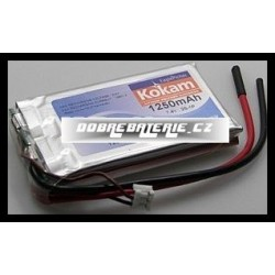 2/1250H Kokam 1250mAh Li-Polymer 7.4V 15C