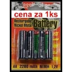 baterie aa / r6 2200mah 2.6wh nimh 1.2v blistr 4 ks