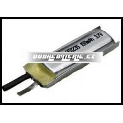 LP501235 150mAh Li-Polymer 3.7V 5x12x35mm