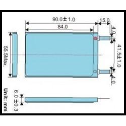 LP605590 3400mAh Li-Polymer 3.7V 6x55x90mm