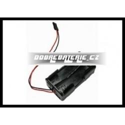 krabička 4xaa s kabely 0.14 mm2pvc 9 cm i zástrčkou jr