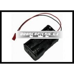 krabička 4xaa s kabely 0.14 mm2pvc 9 cm i zástrčkou bec