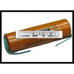 l14500-ft 750mah 2.8wh 3.7v 14.1x48.5mm plíšky na pájení